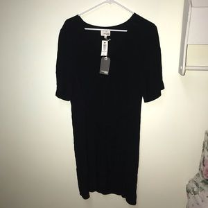 Black crepe tie ronja dress Wilfred Free